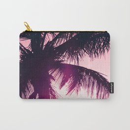 pink palm tree silhouettes kihei tropical nights Carry-All Pouch