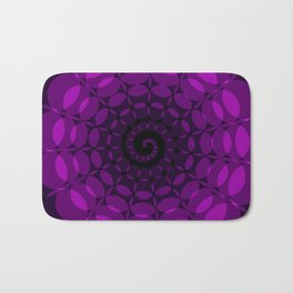 complex purple spiral Bath Mat