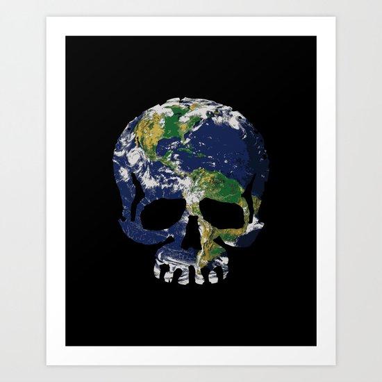 Skull Earth Art Print