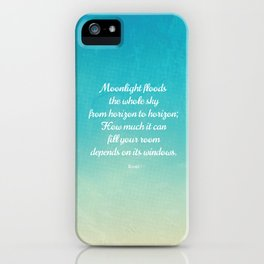 Moonlight Floods the Whole Sky - Beautiful Quote by Rumi iPhone Case