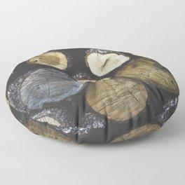 Stacked wood Floor Pillow