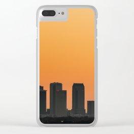Tampa Sunrise Clear iPhone Case
