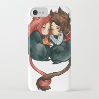 bucky iPhone & iPod Cases featuring bucky & natasha by cynamon
