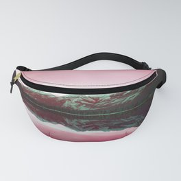 Pink Mountain Sky Fanny Pack