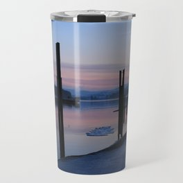 Sunset on the ice Travel Mug