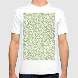 Vintage willow bough vintage illustration wall art print and poster design remix from the original artwork by William Morris. T-shirt