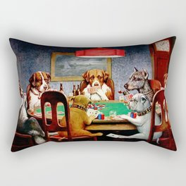 M.C. Coolidge, A Friend in Need, 1894 Artwork for Wall Art, Prints, Posters, Tshirts, Men, Women, Yo Rectangular Pillow