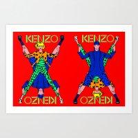 kenzo Art Prints featuring Kenzo Pop Art by Alli Vanes