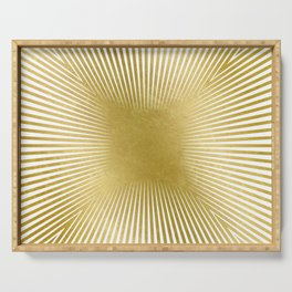 Converge Four Heavy Gold Serving Tray