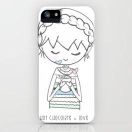Hot Chocolate = Love - ホットチョコレート = 好き iPhone Case