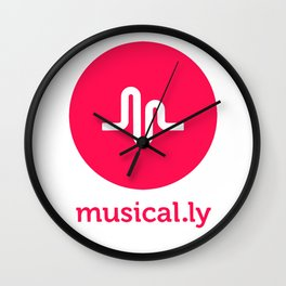 musical.ly musically Wall Clock