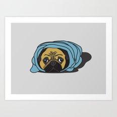 Snug as a Pug Art Print