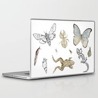 insects Laptop & iPad Skins featuring Insects by Claire Bond