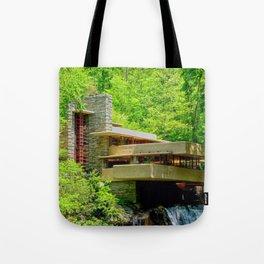 Frank Lloyd Wright   architect   Fallingwater Tote Bag
