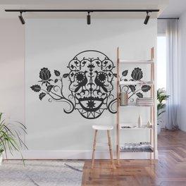 SKULL FLOWER 03 Wall Mural