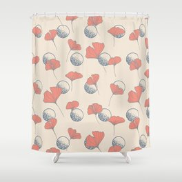 Delicate Ginkgo&Dots #society6 #decor #buyart Shower Curtain