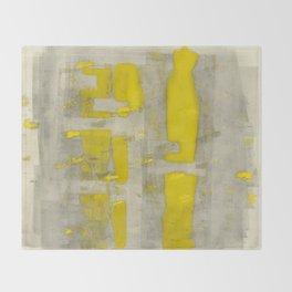 Stasis Gray & Gold 4 Throw Blanket