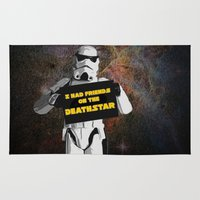 storm trooper Area & Throw Rugs featuring Storm Trooper by ZeebraPrint
