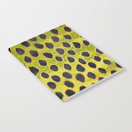 Pattern Play / Black, Gold & Green Notebook
