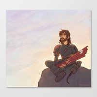 hiccup Canvas Prints featuring older hiccup by Ronnie