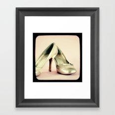 I love my gold shoes 1 Framed Art Print