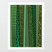bamboo Art Prints featuring Bamboo by glorya