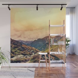 Sunset in the Mountains Wall Mural