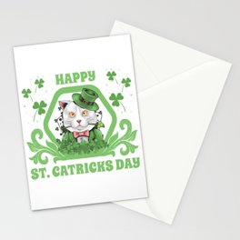 Funny Cat St Patricks Day 2020 Fun Gift Leprechaun Stationery Cards