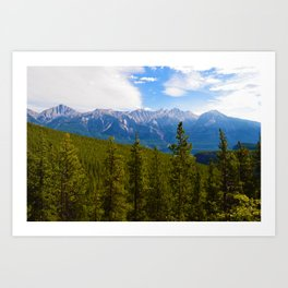 Collin Range as seen from the Palisades in Jasper National Park, Canada Art Print