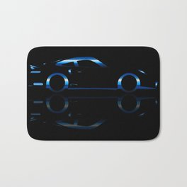 Blue Flash Fast Car Bath Mat