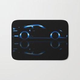 Blue Flash Fast Car Bath Mat