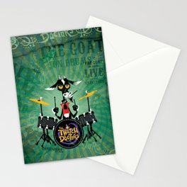 The Goat - Drums. The Twitch Doctors Stationery Cards