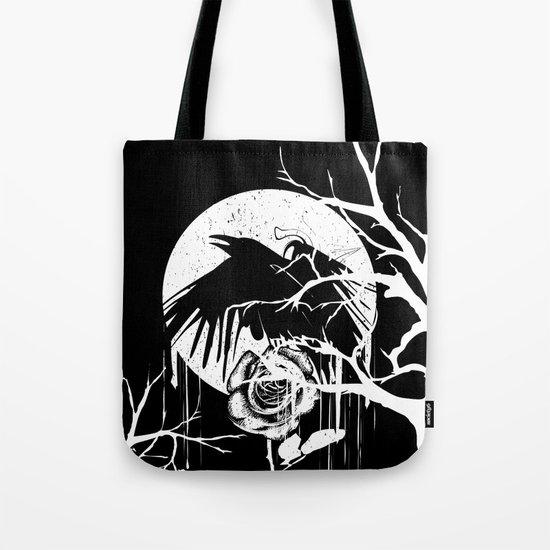 Raven and Rose Tote Bag