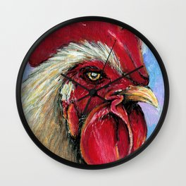Pastel Rooster Wall Clock