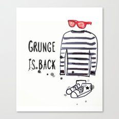 Grunge is back Canvas Print