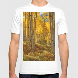 Autumn Aspen Forest Aspen Colorado T-shirt