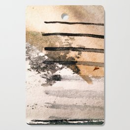 Desert Musings - a watercolor and ink abstract in gray, brown, and black Cutting Board