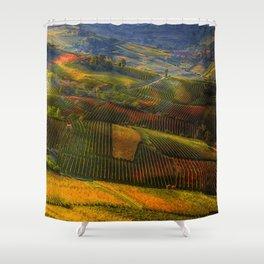 Tuscany, italian wineyards Shower Curtain