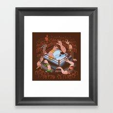 Arm Wrestle Mania Framed Art Print