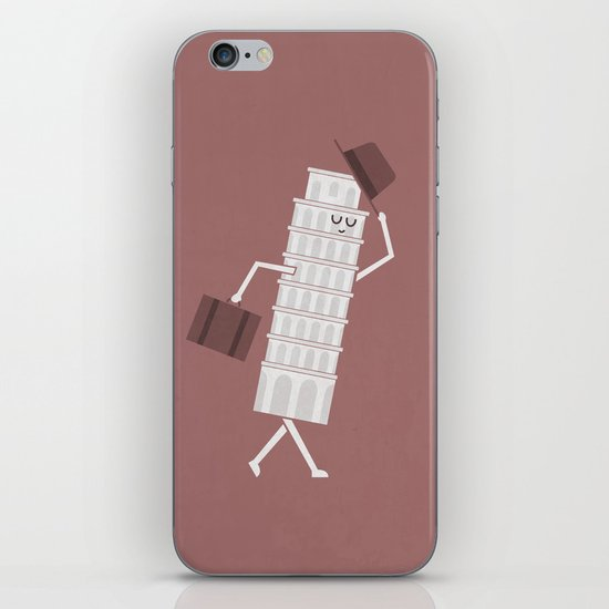 The Leaving Tower Of Pisa iPhone & iPod Skin
