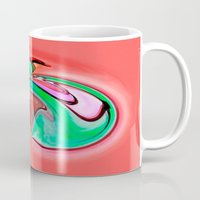 apple Mugs featuring Apple by Just Art