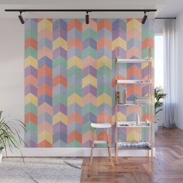 Colorful geometric blocks Wall Mural