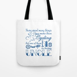 Cycling Uncle Tote Bag