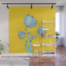 Electronic Flowers Circuit Board Petals Wall Mural