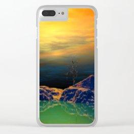 Sonnenuntergang über der Insel Clear iPhone Case