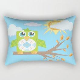 Daytime Owl Rectangular Pillow