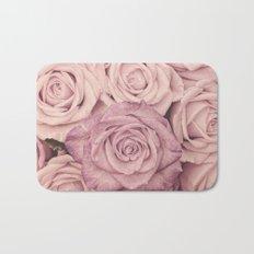 Some people grumble - Pink rose pattern- roses Bath Mat
