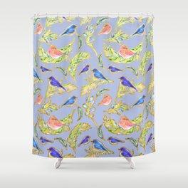 Beautiful Nature Inspired Bird Print Shower Curtain