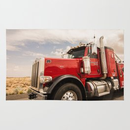Red truck California Rug