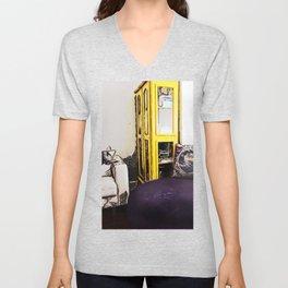 Yellow Bookcase Unisex V-Neck